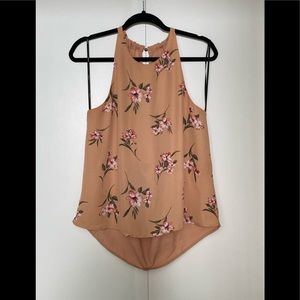 Forever 21 peach with floral Blouse